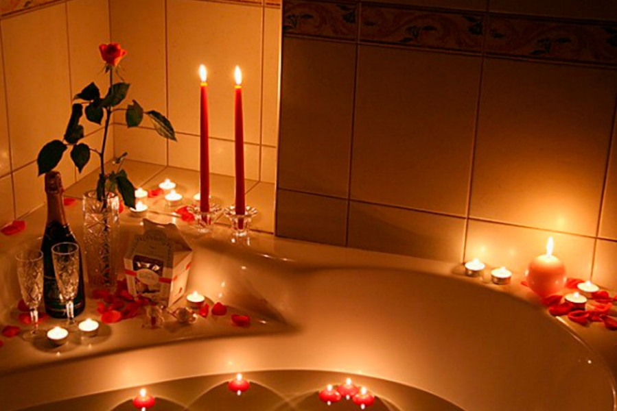 noite de núpsias romântica